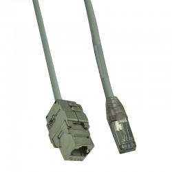 HSD-PDC RJ45 FTP Cat.6A F/M câble C.7 1x4p Gris 10m
