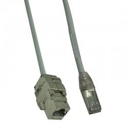 HSD-PDC RJ45 FTP Cat.6A F/M câble C.7 1x4p Gris 15m