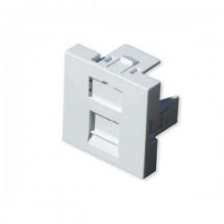HSD - Plastron droit 45 x 45 -  1 port  RJ45( Pour connecteur zamac)