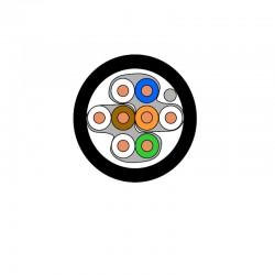 DRAKA - Câble monobrin Cat.6 - AWG23 U/FTP - Gaine PE - Noire - 500M
