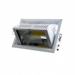 "Downlight ""BARBADE"" LED COB 55W 4000°K 5570 Lm Rect basc avec driver"