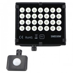 "Projecteur LED extra plat ""HAWAI"" 30W - 3000°K - Noir"