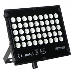 "Projecteur LED extra plat ""HAWAI"" 50W - 3000°K - Noir"