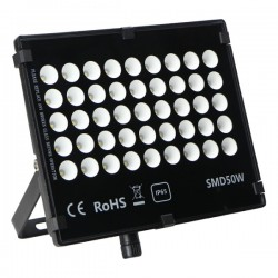 "Projecteur LED extra plat ""HAWAI"" 50W - 6000°K - Noir"