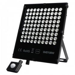 "Projecteur LED extra plat ""HAWAI"" 100W - 4000°K - Noir"