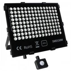 "Projecteur LED extra plat ""HAWAI"" 150W - 4000°K - Noir"