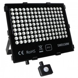 "Projecteur LED extra plat ""HAWAI"" 150W - 6000°K - Noir"