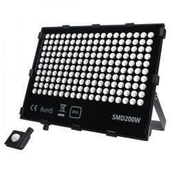 "Projecteur LED extra plat ""HAWAI"" 200W - 4000°K - Noir"