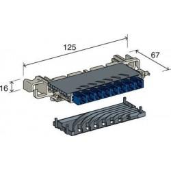 Module à coup. à canaux 8p - jaune ressort (câbl.lat) - 3M