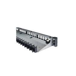 Panneau 16 ports 1U alu noir  RJ45 - non équipé de connecteurs - 3M