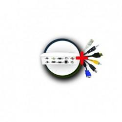 Pack boîtier déport métal + cordons 15m (USB 5m)
