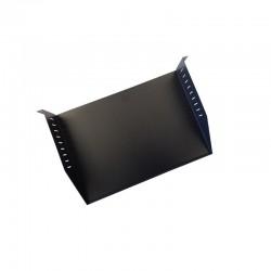 UPTEC - Etagère 19'' 2U noire sans rebord - Prof 320mm - 25kg