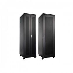 UPTEC - Baie 12U 600x1000 Porte AV perforée et AR double perforée