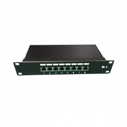 UPTEC - Panneau de brassage 10'' pour 8 ports C6 FTP