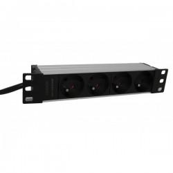 UPTEC - Multiprise 10'' 4 prises 1U - 1m de câble
