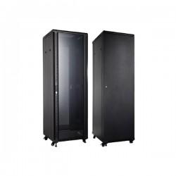 UPTEC Baie 19'' 37U 800x800 (charge 800 Kg) porte AV vitrée AR pleine
