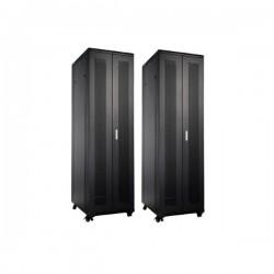 UPTEC - Baie 19'' 42U noire 1000x800 (charge 800 Kg) portes perforées