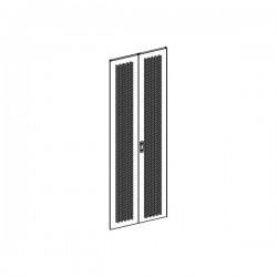 UPTEC - Porte double perforée avec serrure pour baie 42U largeur 1000