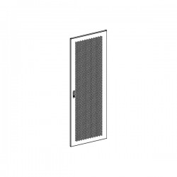 UPTEC - Porte perforée avec serrure pour baie 42U 800 x 800