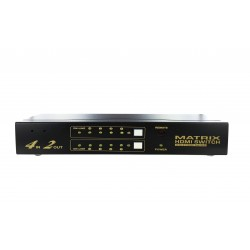 Matrice HDMI 4x2 (4 in-2 out) 1080p - RS232 - HDCP - télécommande IR