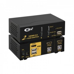 KVM 2 ports HDMI /USB - 4K - Livré avec cordon 1.5m
