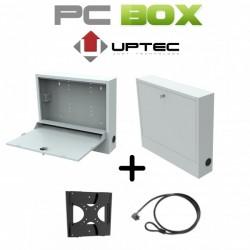 UPTEC-PCBox métal pour miniPC/Portable- Livrés: support écran+antivol