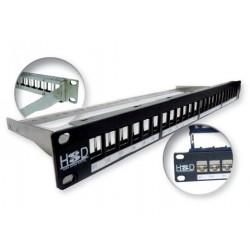HSD -Panneau RJ45 24 ports pour connecteurs FTP & UTP-support arrière
