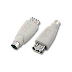 Adaptateur USB femelle vers PS/2 mâle  monobloc