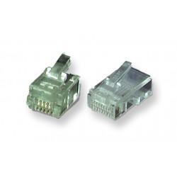 Connecteur RJ11 UTP câble plat - Paquet de 10