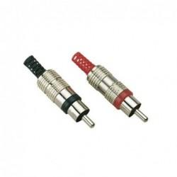 Connecteur RCA mâle métal jaune/doré