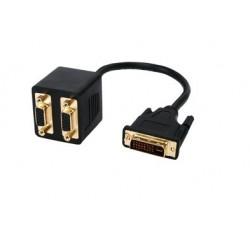 Adaptateur DVI-I M / 2 VGA F - 0,30 m