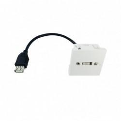 Plastron 45x45 USB A F-F - 0,20m